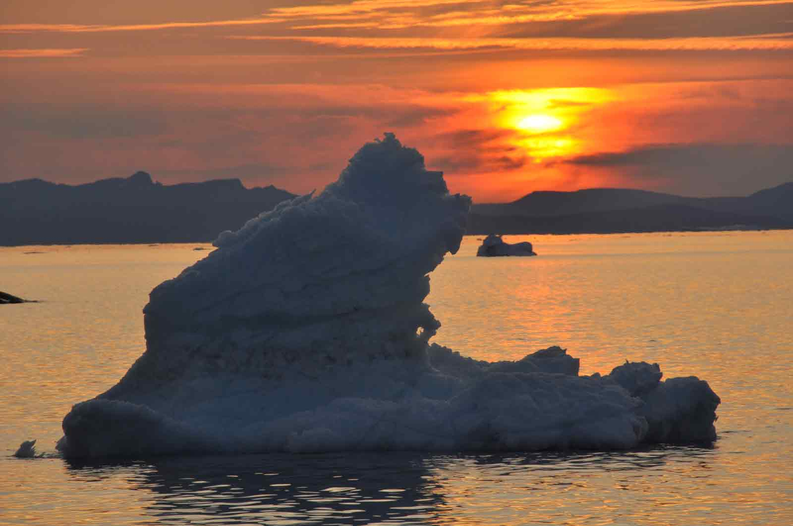 Soleil couchant- Baie d'Ilulissat